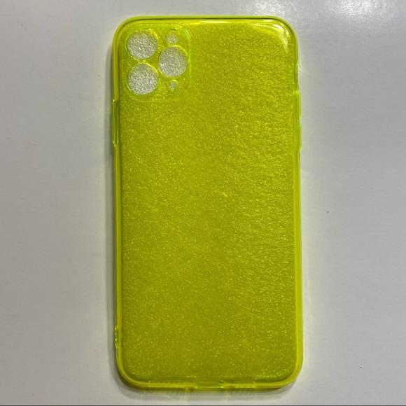 NWOT iPhone 11 Pro Max Neon Yellow Phone Case